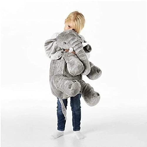 Cojín de elefante de 60 cm, relleno de peluche para bebé, cómodo cojín para dormir y espalda para niñas