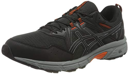 ASICS Herren Gel-Venture 8 Trail Running Shoe, Black/Sheet Rock, 45 EU