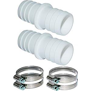 Pangaea Tech 2 conectores de manguera de 32 mm de diámetro, juego con abrazaderas de manguera de 1 1/4 pulgadas…