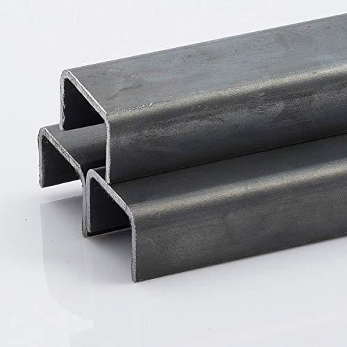 M.P. Metalli ferro liscio profilo a U grezzo 60x60 mm, spessore 3 mm, 2 mt / 2000 mm Made in Italy