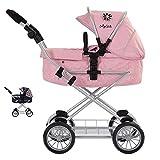 Daisy Chain Destiny, Carrozzina per Bambole con Sistema da Viaggio - Raccomandata per Bambini dai 5 ai 9 Anni. (Classic Pink)