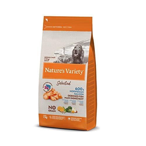 Nature's Variety Selected - Pienso para perros adultos con salmón noruego sin espinas 2 Kg