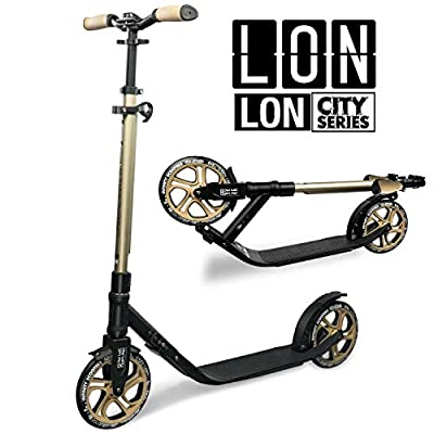 Infinity Skates London Foldable Kick Scooter (LON) - Features Adjustable Height Handlebars, 215mm Wheels and Trolley Function - City Commuter Series