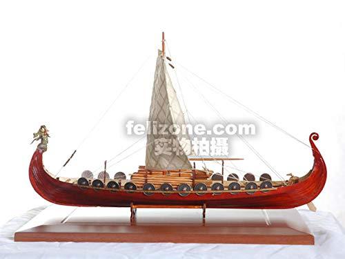 SIourso Kits De Construcción Kits De Modelo De Barco Kit Ensamblado Modelo De Velero De Madera Clásico Modelo De Viento Comercial Barco Pirata Vikingo Jacques DIY Juguete