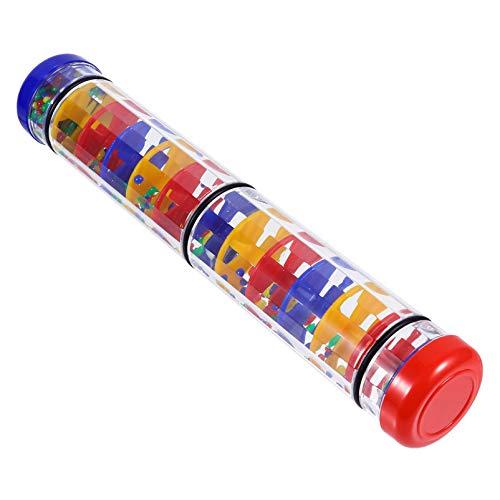 STOBOK Juguete para Niños Pequeños Chubasquero Sonajero Mini Agitador de Tubo Lluvia Música Auditiva Juguete para Niños Pequeños