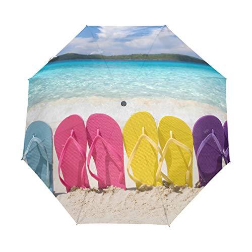 Paraguas Personalizar 3 Pliegues Zapatillas Playa