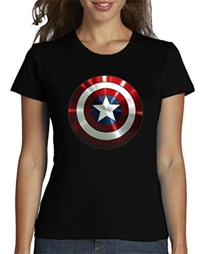 The Fan Tee Camiseta de Mujer Capitan America Comic Iron Man Hulk Advenger Vengadores 005 M