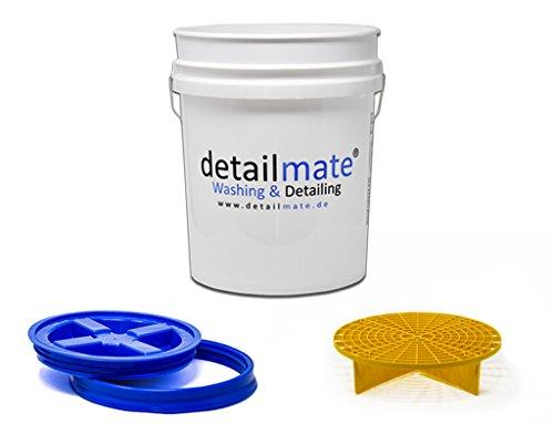 GritGuard Detailmate Wasmachine, 5 g (ca. Gamma Seal, emmerdeksel, blauw, emmer-inzetstuk geel