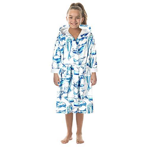 Kinder Bademantel Home Pyjama Jacke Jungen Mädchen Cartoon Drucken Schlafanzüge...