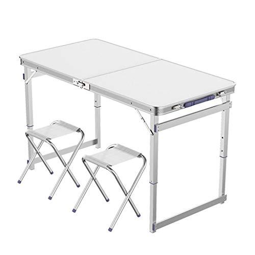 Table Pliante Portable et réglage de la Chaise à 3 Vitesses 70/60 / 55cm pour Barbecue en intérieur et extérieur -LJ Jing Shop (Couleur : White-1)