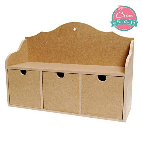 Ta Tent Beauty Box cosmeticatasje, organizer, opbergdozen, decoupage, schilderen, decoratie