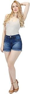 Shorts Jeans Imporium Feminino Cós Alto Cintura Alta Barra Desfiada 45175