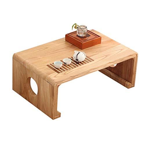 Koffietafelblad van massief hout, eettafel, tatami-pluidertafel, op het balkon, geschikt voor woonkamer