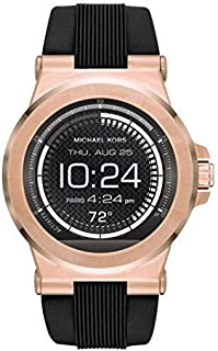 Michael Kors Dylan Access Smartwatch, Silicone (MKT5010) - Black-Rose Gold