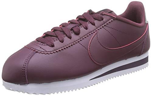 Nike Wmns Classic Cortez Leather, Zapatillas de Running para Mujer, Marrón (Night Maroon/Night Maroon-Burgundy Ash 603), 38.5 EU