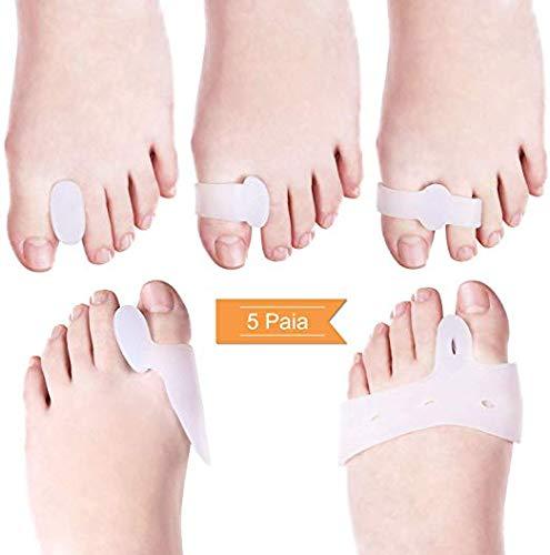 Bunion Correctors Toe Separator Kit - 5 Paar Bunion Toe Straightener, Separator Fingers Fuß für Corrector Hallux Valgus, Zehenglätter, Bunion Protections - Schmerzlinderung, Vorfuß Pflanze