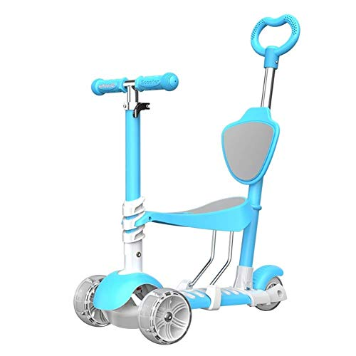 Fantastic Prices! Lcxliga 5 in 1 Kids Kick Scooter, 3 Wheels Walker with Removable Seat and Back Res...