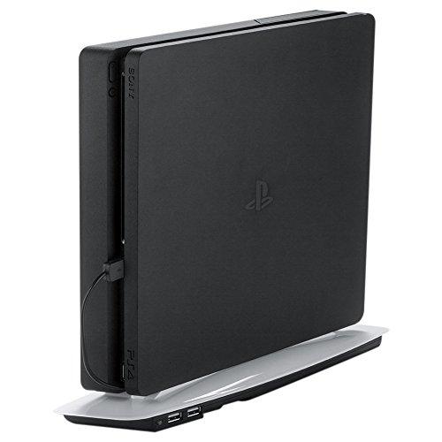 REYTID Koeling Stand/Ventilator Compatibel met PS4 Slim - Multi-Use Dock - Zwart/Wit, Fan/USB - Black, Zwart/Zwart