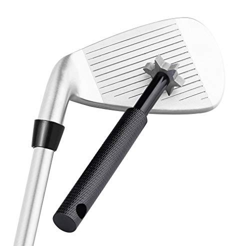 HISTAR Golfschläger-Rillenschärfer und Reinigungswerkzeug mit 6 Köpfen von Specialty Golf Products, LYSB01N6FCSX0-SPRTSEQIP, Schwarz