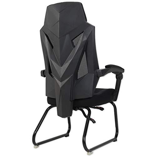 Axdwfd Chaise longue Lounge Chair, Chaise de bureau à domicile, Design ergonomique, Dossier réglable, Siège rembourré en mesh, Mécanisme de basculement, Poids maximal 130kg 74 * 34 * 60cm