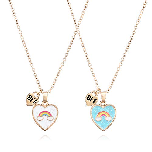 LFYXCW Collar Mejores Amigas para 2 Niña (2 piezas collares de corazon best forever)