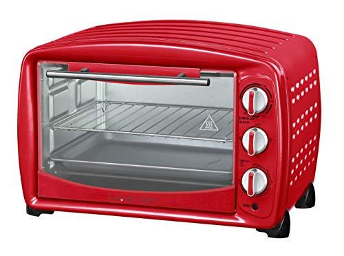 Akai AKFE257RO Forno Eletrico AKFE257 Vintage 26L Colore Rosso, Acciaio