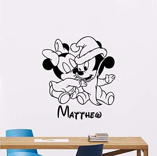 Etiqueta de la pared PVC extraíble etiqueta de la pared decoración de la habitación del bebé decoración de la pared papel tapiz 57 * 65Cm