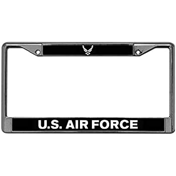 Baolin Onece US Air Force License Plate Zinc Frame Proud USAF License Plate Tag Frame Heavy Duty Anodized Aluminum Car Licenses Plate Frame for Standard Size US Car