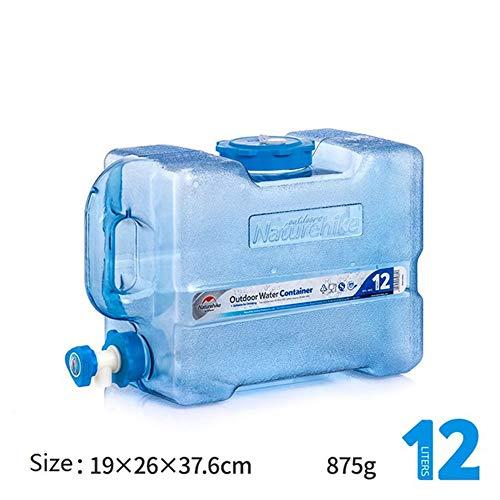 WLLP Récipient d'eau portatif, récipient d'eau de PC de catégorie Comestible Seau d'eau extérieur de Grande capacité de randonnée réservoir d'eau de Camping avec Le Robinet