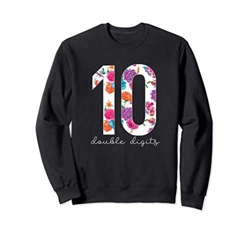 Camiseta de décimo cumpleaños con dos dígitos # 10 Diez Sudadera