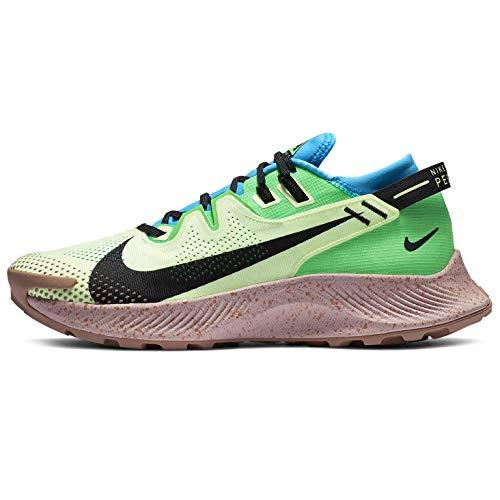 Nike Pegasus Trail 2, Scarpe da Corsa Uomo, Barely Volt/Black-Laser Blue-Poison Green-Stone Mauve-Desert Dust, 42.5 EU