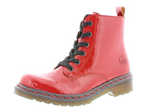 Rieker Damen Stiefel Y8210, Frauen Winterstiefel, Freizeit leger Winter-Boots schnürstiefel gefüttert warm Damen Frauen,Flamme,38 EU / 5 UK