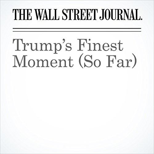 Trump's Finest Moment (So Far) copertina