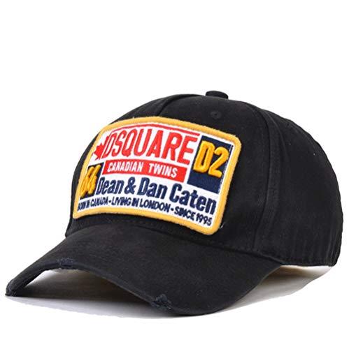 HXXBY Berretto da baseball visiera in bianco e nero da uomo quattro stagioni marea cappello coreano cappello da sole della gioventù marea cappello selvaggio casuale cappello sportivo studente cappello