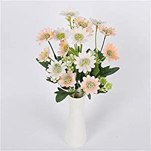 Artificial and Dried Flower Summer Artificial Flowers Yellow Small Fresh Milan Chrysanthemum Home Simulation Flowers for Bedside Table Decoration
