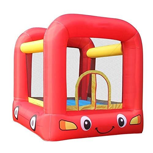 ZhengELE Red Car Gorila Inflable Casa Castillo Hinchable for niños Trampolín Pequeño Puente del Parque acuático de Juegos con el Ventilador del Partido Aire de Rebote