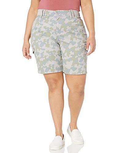 Lee Pantalones Cortos Tipo Bermuda para Mujer, Talla Grande, Camo, 18