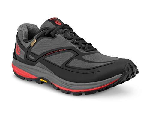 Topo Athletic Hydroventure 2 Trail Chaussures de course pour homme, Homme, Hydroventure 9, Charbon/Rouge, 11.5