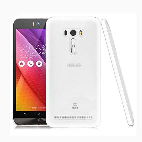 IBROZ®–Asus Zenfone 2(ze550ml und ze551ml)–icase Schutzhülle Silikon Premium Asus Zenfone 2Ultra Fine Ultra Clear–0,4mm (halbstarrer–Stößen Absorption)–Transparent