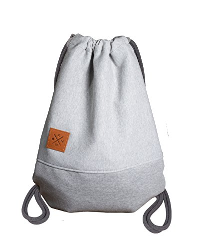 Sweat Sports Bag - Rough Jersey/Sweat Rucksack Hoodie Gym Bag Turnbeutel Sport Beutel Tasche Manufaktur13 M13