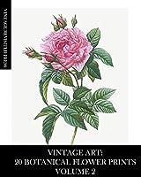Vintage Art: 20 Botanical Flower Prints Volume 2: Ephemera for Framing, Collage and Decoupage