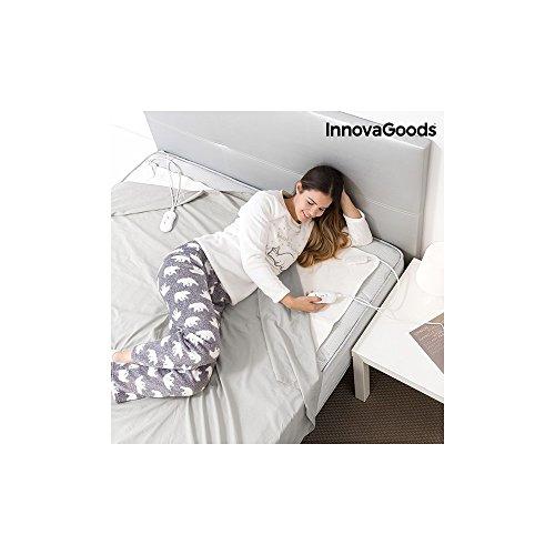 InnovaGoods IG114673 - Calientacamas electrico doble, 60 W