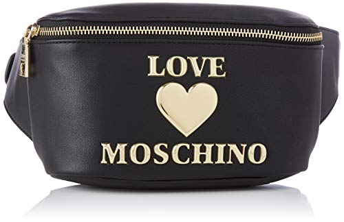 Love Moschino Damen Precollezione SS21 | Marsupio PU da Donna Bauchtasche, Schwarz, Normal