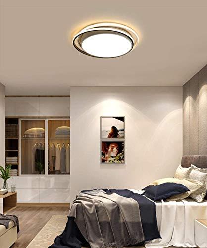 WDLWUJIN Lámparas Lámpara de Techo Lámparas Colgantes Luces Novedad Iluminación Atmósférica Hogar Sala de Estar Led, Simple Round Driso Sala de Estudio,Luz Blanca,38Cm