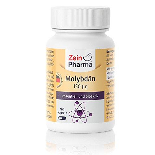Cápsulas de Molibdeno 150µg de ZeinPharma • 90 cápsulas (3 meses de suministro) • promueve procesos de desintoxicación en el cuerpo • Hecho en Alemania