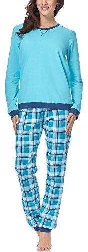 Cornette Pijama para Mujer 671 2017 (Turquesa-04, S)