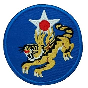 World War II 14th Air Force Flying Tiger Embroidery Patch Military Tactical Clothing Accessory Backpack Armband Sticker Gift Patch Decorative Patch Embroidered Patch