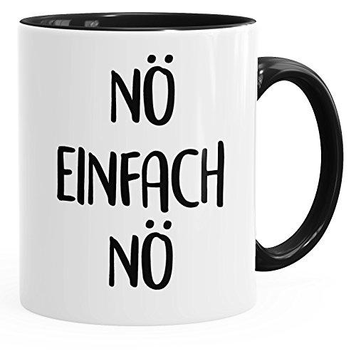 MoonWorks lustige Kaffee-Tasse Nö Einfach Nö Spruch Sprüche Arbeit Büro Kollegen schwarz Unisize