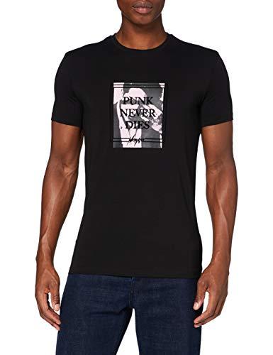 Antony Morato MMKS01874-FA120001-9000 T-Shirt, Nero, L Uomo
