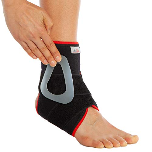 Tutore per piede e caviglia, stabilizzatore, con imbottitura, per tendine d'Achille, per uso sportivo, per dolori, fascite plantare, stabilizzatore per lesioni, distorsioni, artrite
